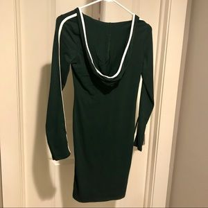 🆕NWT Bodycon Mini Hoodie Dress Dark Green S